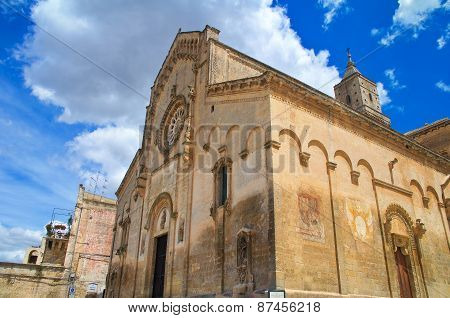 Cathedral church of Matera. Basilicata. Southern Italy.