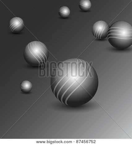 Technology background with balls