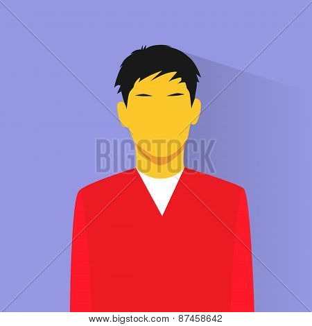 profile icon asia male avatar portrait casual person