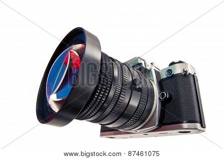Photographic Camera With A Wide Angle Lens.
