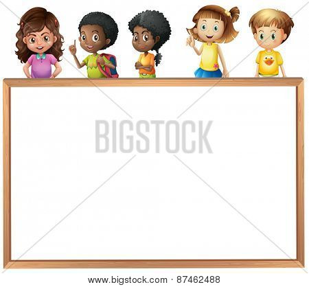 Children on top of the empty board