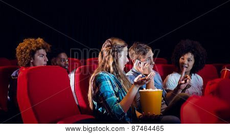 Annoying man on the phone at the cinema