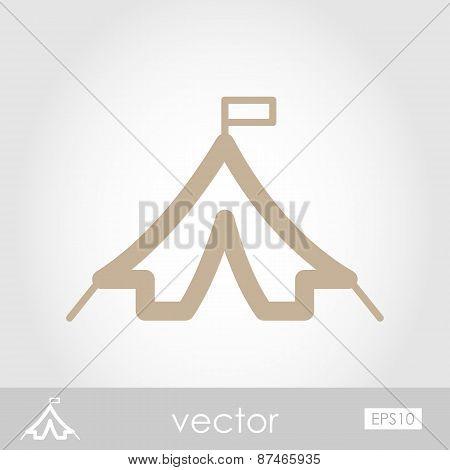 Tent Vector Icon