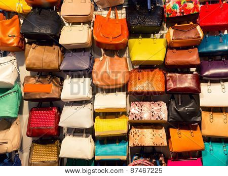 Colorful background of shopping bags