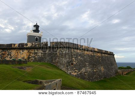 Lighthouse at Castillo San Felipe del Morro, San Juan