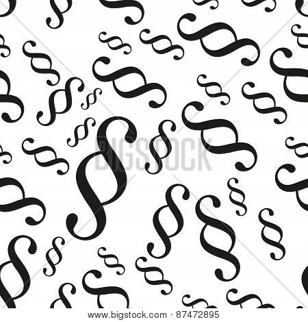 Paragraph Black Symbols Seamless Vector Pattern Eps10