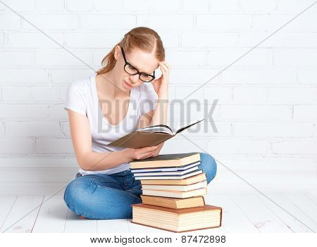 Funny Girl Student Preparing Homework