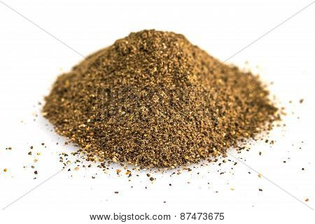 Ground Black Pepper Isolated On White Background