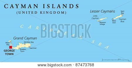 Cayman Islands Political Map