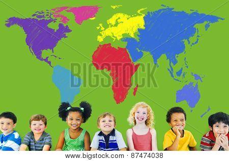 World Map Global International Globalization Concept