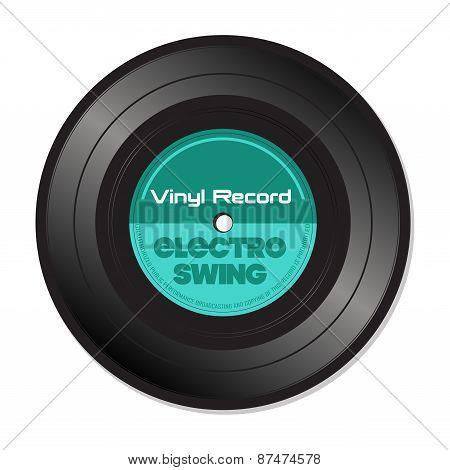 Electro swing vinyl record