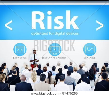 Business People Risk Web Design Concept