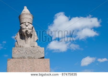 Saint-Petersburg. Russia. Antique egyptian sphinx