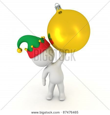 3D Character holding Globe