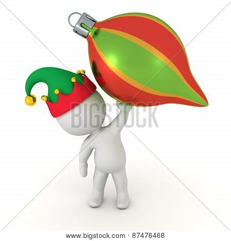 3D Character holding Colorful Globe