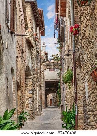 Antique Alley In Bevagna, Umbria, Italy