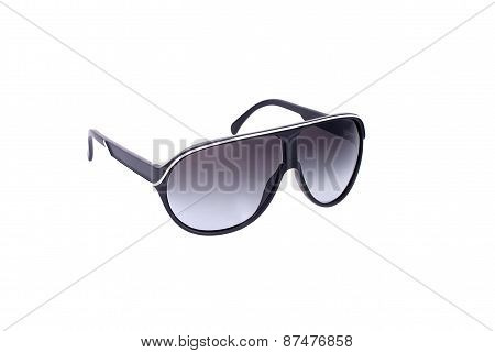 Womens Black Sunglasses Isolated On White