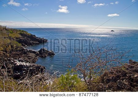 Beautiful seashore landscape taken from Carola Point in San Cristobal Island, Galapagos
