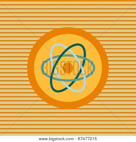 Atom Color Flat Icon