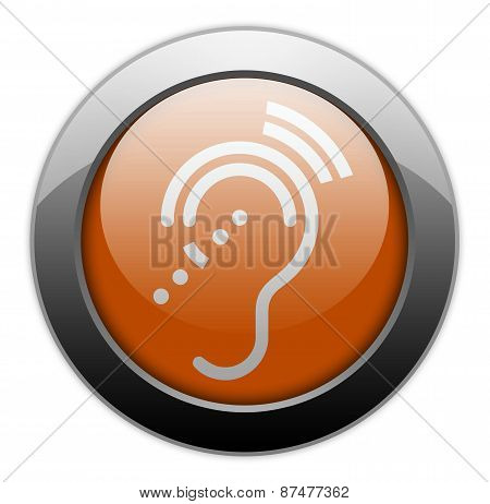 Icon, Button, Pictogram Hearing Impairrment