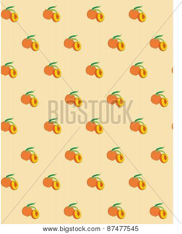 Vector seamless pattern of peaches