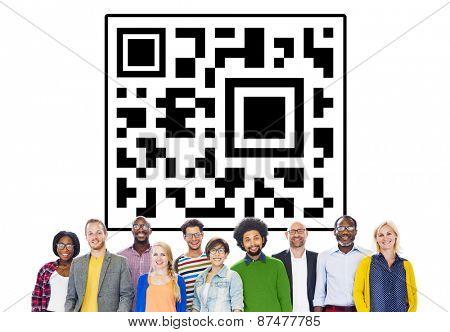 QR code Identity Marketing Concept