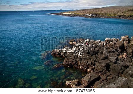 Beautiful ocean landscape in San Cristobal Island, Galapagos
