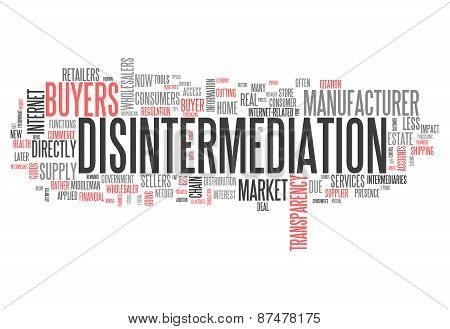Word Cloud Disintermediation