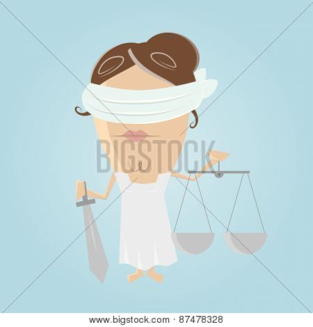 funny justitia illustration