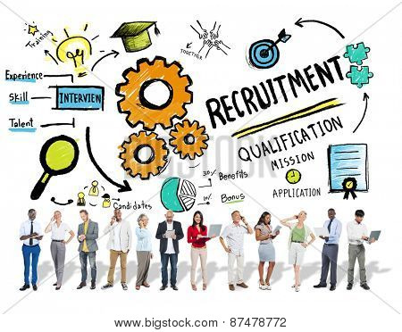Ethnicity People Recruitment Digital Devices Searching Concept