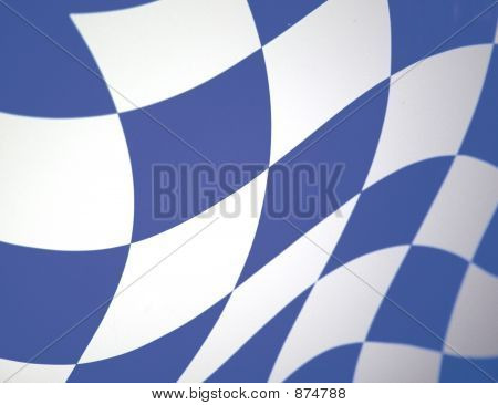 Blue Checkered Waving Flag