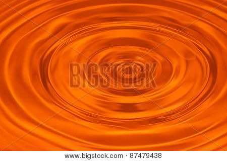 Orange water ripple abstract