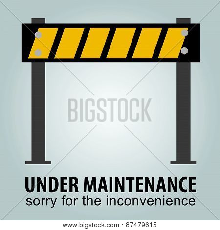 simple Sign, Under Maintenance