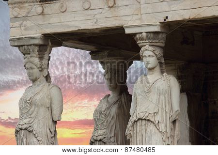 The Karyatides, Athens, Greece