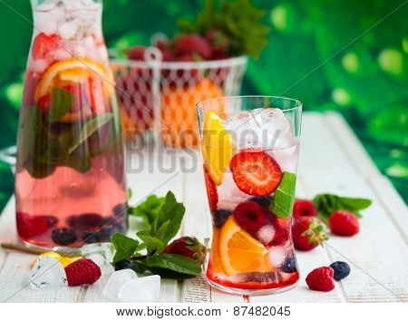 Fruit and berry summer punch