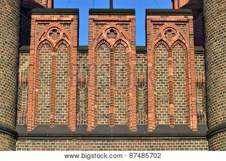 Friedrichsburg Gate (fragment). Kaliningrad (formerly Koenigsberg), Russia