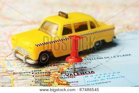 Valencia  ,spain Map Taxi