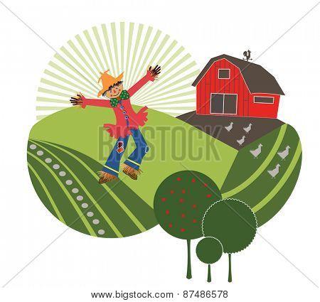 scarecrow on the farm