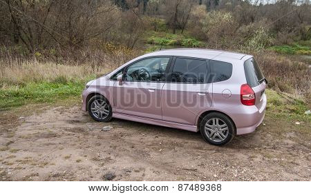 Pink Honda Jazz Fit Sport 2008