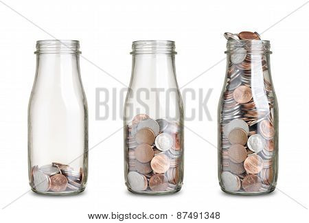 Coins In Jars