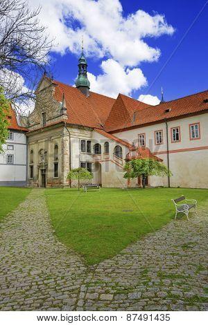 Castle Yard In City Of Cesky Krumlov