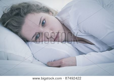 Sad Tired Woman