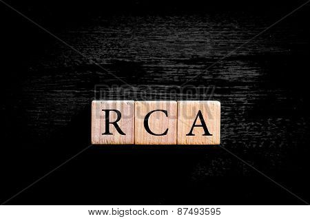 Acronym Rca - Root Cause Analysis Isolated With Copy Space