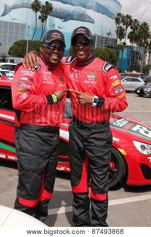 LOS ANGELES - FEB 7:  Mekhi Phifer, Willie Gault at the Toyota Grand Prix of Long Beach Pro/Celebrity Race Press Day at the Grand Prix Compound on FEB 7, 2015 in Long Beach, CA