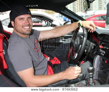 LOS ANGELES - FEB 7:  Joshua Morrow at the Toyota Grand Prix of Long Beach Pro/Celebrity Race Press Day at the Grand Prix Compound on FEB 7, 2015 in Long Beach, CA
