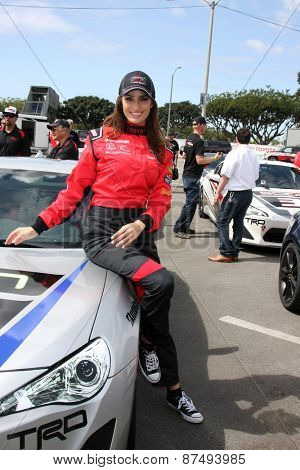 LOS ANGELES - FEB 7:  Donna Feldman at the Toyota Grand Prix of Long Beach Pro/Celebrity Race Press Day at the Grand Prix Compound on FEB 7, 2015 in Long Beach, CA