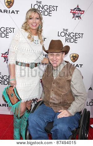 LOS ANGELES - FEB 6:  Tiffany Davis, Bull Rider/Co-founder Jerome Davis at the