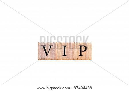 Word Vip - Very Important Person  Isolated On Black Background With Copy Space