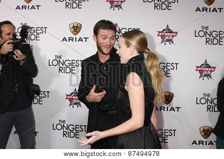 LOS ANGELES - FEB 6:  Scott Eastwood, Britt Robertson at the