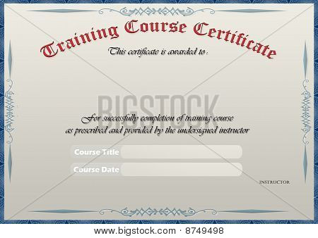 Elegant Training Course Certificate